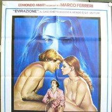 Cine: XP51D LA ULTIMA MUJER SEXY ORNELLA MUTI GERARD DEPARDIEU MARCO FERRERI POSTER ORIG ITALIANO 100X140. Lote 16455102