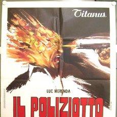 Cine: YG65D IL POLIZIOTTO E MARCIO LUC MERENDA RICHARD CONTE POLIZIOTTESCO POSTER ORIG ITALIANO 100X140. Lote 16455753