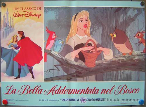 Cine: QA84 LA BELLA DURMIENTE WALT DISNEY SET DE 6 POSTERS ORIGINAL ITALIANO 47X68 - Foto 4 - 35629954