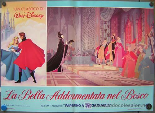 Cine: QA84 LA BELLA DURMIENTE WALT DISNEY SET DE 6 POSTERS ORIGINAL ITALIANO 47X68 - Foto 6 - 35629954