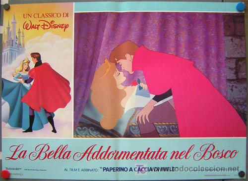 Cine: QA84 LA BELLA DURMIENTE WALT DISNEY SET DE 6 POSTERS ORIGINAL ITALIANO 47X68 - Foto 2 - 35629954