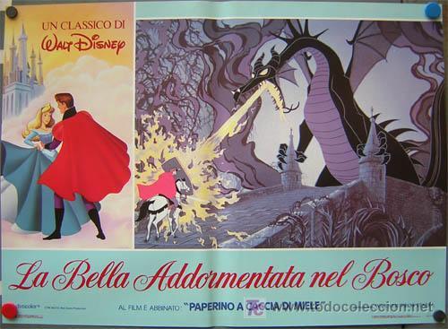 Cine: QA84 LA BELLA DURMIENTE WALT DISNEY SET DE 6 POSTERS ORIGINAL ITALIANO 47X68 - Foto 5 - 35629954