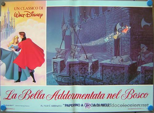 Cine: QA84 LA BELLA DURMIENTE WALT DISNEY SET DE 6 POSTERS ORIGINAL ITALIANO 47X68 - Foto 3 - 35629954