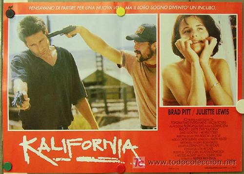 Cine: KR27 KALIFORNIA BRAD PITT JULIETTE LEWIS DAVID DUCHOVNY SET de 6 POSTERS ORIGINAL ITALIANO 47X68 - Foto 4 - 16453319