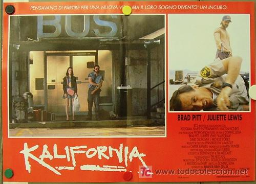 Cine: KR27 KALIFORNIA BRAD PITT JULIETTE LEWIS DAVID DUCHOVNY SET de 6 POSTERS ORIGINAL ITALIANO 47X68 - Foto 5 - 16453319