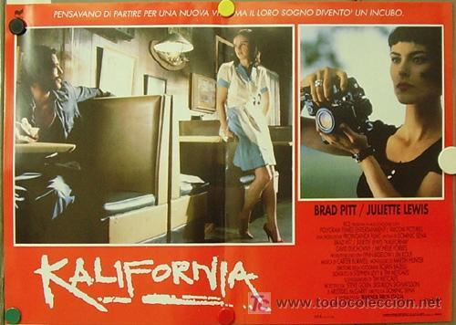 Cine: KR27 KALIFORNIA BRAD PITT JULIETTE LEWIS DAVID DUCHOVNY SET de 6 POSTERS ORIGINAL ITALIANO 47X68 - Foto 6 - 16453319