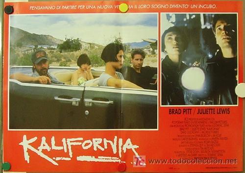 Cine: KR27 KALIFORNIA BRAD PITT JULIETTE LEWIS DAVID DUCHOVNY SET de 6 POSTERS ORIGINAL ITALIANO 47X68 - Foto 2 - 16453319