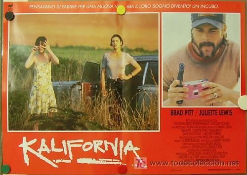 Cine: KR27 KALIFORNIA BRAD PITT JULIETTE LEWIS DAVID DUCHOVNY SET de 6 POSTERS ORIGINAL ITALIANO 47X68 - Foto 3 - 16453319