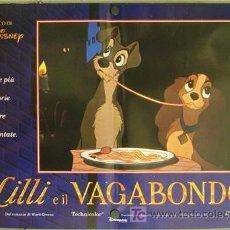 Cine: KS20 LA DAMA Y EL VAGABUNDO WALT DISNEY SET DE 6 POSTER ORIGINAL ITALIANOS 47X68. Lote 16471437
