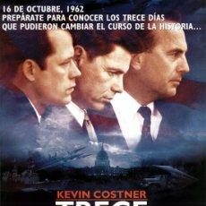 Cine: 'TRECE DÍAS', CON KEVIN COSTNER. TAMAÑO FOLIO.. Lote 16551639