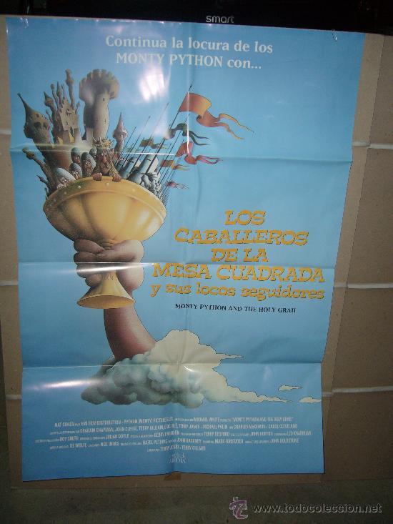 LOS CABALLEROS DE LA MESA CUADRADA MONTY PYTHON POSTER ORIGINAL 70X100 (Cine - Posters y Carteles - Comedia)