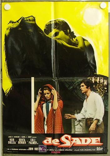 KT59 DE SADE SENTA BERGER KEIR DULLEA POSTER ORIGINAL ITALIANO 68X94 (Cine - Posters y Carteles - Terror)