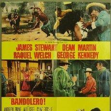 Cine: KT79 BANDOLERO JAMES STEWART RAQUEL WELCH DEAN MARTIN POSTER ORIGINAL ITALIANO 68X94. Lote 16761434