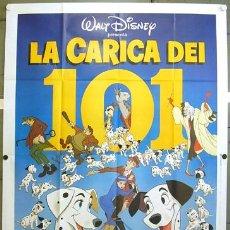 Cine: KT87 101 DALMATAS WALT DISNEY POSTER ORIGINAL ITALIANO 140X200. Lote 16761845