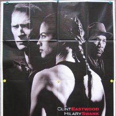 Cine: KT93 MILLION DOLLAR BABY CLINT EASTWOOD HILARY SWANK MORGAN FREEMAN POSTER ORIGINAL ITALIANO 140X200. Lote 16762233