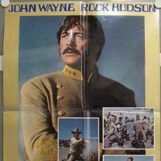 Cine: KU37 LOS INDESTRUCTIBLES JOHN WAYNE ROCK HUDSON POSTER ORIGINAL ITALIANO 68X94. Lote 16776599