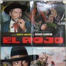 Cine: KU52 TEXAS EL ROJO RICHARD HARRISON SPAGHETTI POSTER ORIGINAL ITALIANO 68X94. Lote 16807777