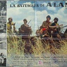 Cine: KU60 EL ALAMO JOHN WAYNE TODD-AO POSTER ORIGINAL ITALIANO 68X94. Lote 16809880