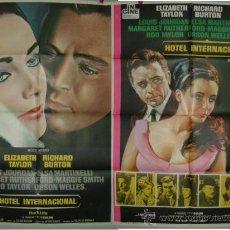 Cine: HOTEL INTERNACIONAL BURTON--- TAYLOR 2POSTERS ESTRENO Y REPOSICION. Lote 21158648