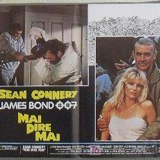 Cine: YF32D NUNCA DIGAS NUNCA JAMAS JAMES BOND 007 SEAN CONNERY SET DE 6 POSTERS ITALIANO 47X68. Lote 16898627