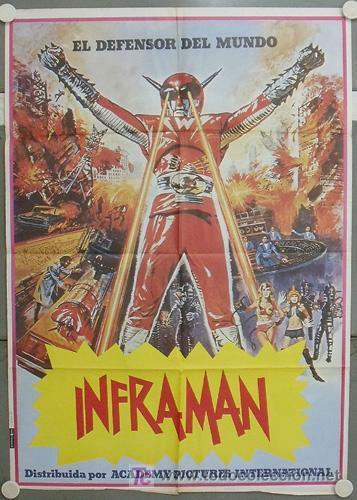KV54 INFRAMAN SUPERHEROE SHAW BROTHERS POSTER ORIGINAL 70X100 ESTRENO (Cine - Posters y Carteles - Ciencia Ficción)