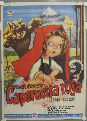 KW09 CAPERUCITA ROJA MARIA GRACIA MANUEL VALDES POSTER ORIGINAL 70X100 ESTRENO (Cine - Posters y Carteles - Infantil)
