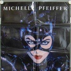Cine: KW15 BATMAN VUELVE CATWOMAN TIM BURTON MICHELLE PFEIFFER MICHAEL KEATON POSTER ORIG 70X100 ESTRENO. Lote 128512859