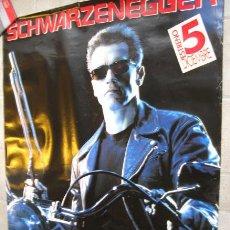Cine: TERMINATOR 2: EL JUICIO FINAL POSTER ORIGINAL GRAN TAMAÑO ARNOLD SCHWARZENEGGER. Lote 27057892