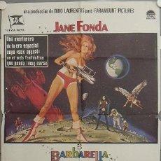 Cine: AAW01 BARBARELLA JANE FONDA ROGER VADIM SEXY SCI-FI POSTER ORIGINAL 70X100 ESTRENO. Lote 17043596