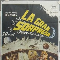 Cine: TI84D LA GRAN SORPRESA NATHAN JURAN RAY HARRYHAUSEN H.G. WELLS POSTER ORIGINAL 70X100 ESTRENO. Lote 17057825
