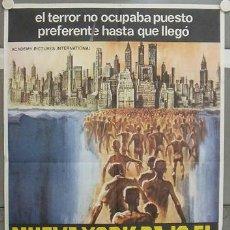 Cine: KX36 NUEVA YORK BAJO EL TERROR DE LOS ZOMBI LUCIO FULCI POSTER ORIGINAL 70X100 ESTRENO. Lote 17060290
