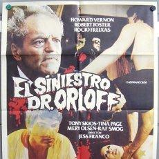 Cine: KX47 EL SINIESTRO DR. ORLOFF JESUS FRANCO POSTER ORIGINAL 70X100 ESTRENO. Lote 17062525