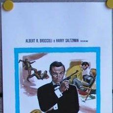 Cine: KX67 JAMES BOND CONTRA GOLDFINGER 007 SEAN CONNERY POSTER ORIGINAL ITALIANO 33X70. Lote 33960608