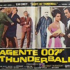Cine: KX74 OPERACION TRUENO JAMES BOND 007 SEAN CONNERY POSTER ORIGINAL ITALIANO 47X68. Lote 17075553
