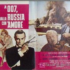 Cine: KX80 DESDE RUSIA CON AMOR JAMES BOND 007 SEAN CONNERY POSTER ORIGINAL ITALIANO 47X68. Lote 17078776