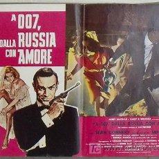 Cine: KX81 DESDE RUSIA CON AMOR JAMES BOND 007 SEAN CONNERY POSTER ORIGINAL ITALIANO 47X68. Lote 17078790