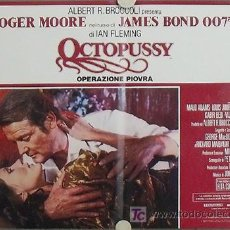 Cine: KY08 OCTOPUSSY JAMES BOND 007 ROGER MOORE SET 8 POSTERS ORIGINAL ITALIANO 47X68. Lote 20252534