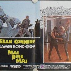 Cine: KY06 NUNCA DIGAS NUNCA JAMAS JAMES BOND 007 SEAN CONNERY SET DE 6 POSTERS ORIGINAL ITALIANO 47X68. Lote 17093012