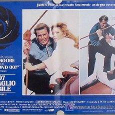 Cine: KY03 PANORAMA PARA MATAR JAMES BOND 007 ROGER MOORE SET DE 8 POSTERS ORIGINAL ITALIANO 47X68. Lote 17093168