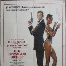 Cine: KY31 PANORAMA PARA MATAR JAMES BOND 007 ROGER MOORE POSTER ORIGINAL ITALIANO 140X200. Lote 28047322