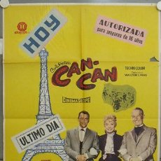 Cine: KY37 CAN CAN FRANK SINATRA SHIRLEY MACLAINE MAURICE CHEVALIER POSTER ORIGINAL 70X100 ESTRENO. Lote 17097470