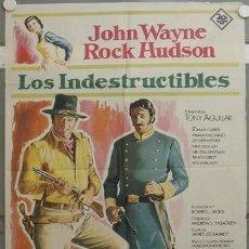 Cine: OL92D LOS INDESTRUCTIBLES JOHN WAYNE ROCK HUDSON POSTER ORIGINAL 70X100 ESTRENO. Lote 17097562