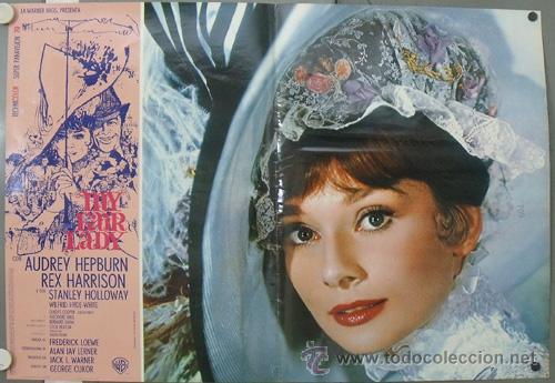 KK41D MY FAIR LADY AUDREY HEPBURN ESPECTACULAR SET COMPLETO DE 14 POSTERS ORIGINAL ITALIANO (Cine - Posters y Carteles - Musicales)