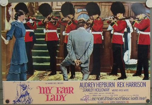 Cine: KK41d MY FAIR LADY AUDREY HEPBURN ESPECTACULAR SET COMPLETO DE 14 POSTERS ORIGINAL ITALIANO - Foto 8 - 20172246