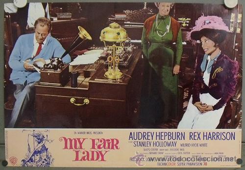 Cine: KK41d MY FAIR LADY AUDREY HEPBURN ESPECTACULAR SET COMPLETO DE 14 POSTERS ORIGINAL ITALIANO - Foto 12 - 20172246
