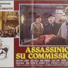 Cine: OM07D ASESINATO POR DECRETO SHERLOCK HOLMES CHRISTOPHER PLUMMER SET 10 POSTER ORIGINAL ITA 47X68. Lote 19912871