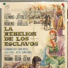 Cine: KY69 LA REBELION DE LOS ESCLAVOS RHONDA FLEMING POSTER DE MAC ORIGINAL 70X100 ESTRENO. Lote 17158364