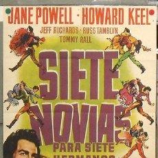 Cine: ZM82 SIETE NOVIAS PARA SIETE HERMANOS STANLEY DONEN POSTER ORIGINAL 70X100 ESTRENO. Lote 17159189