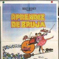 Cine: KY76 LA BRUJA NOVATA WALT DISNEY POSTER 70X100 ORIGINAL ESTRENO TITULO CAMBIADO. Lote 17159672