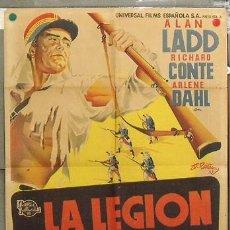 Cine: ZQ50D LA LEGION DEL DESIERTO ALAN LADD ARLENE DAHL POSTER ORIGINAL 70X100 ESTRENO LITOGRAFIA. Lote 17159733